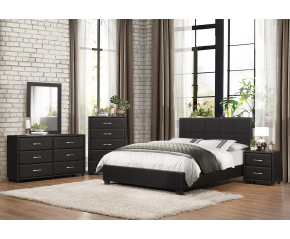 Lorezi 4PC Leather Bedroom Set