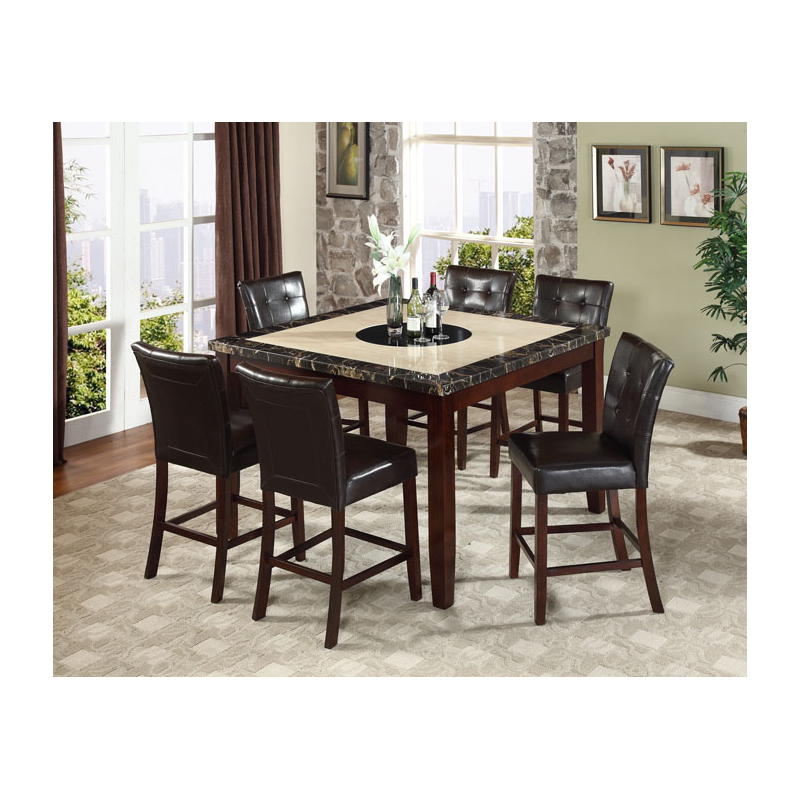 dining room counter height chicago 7pc counter height dining set