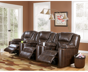 SIGNATURE DESIGN BY ASHLEY PARAMOUNT DURABLEND® - BRINDLE 3-PIECE RECLINING HOME THEATER GROUP