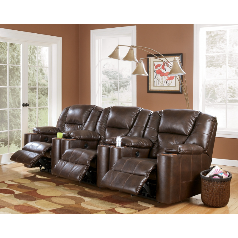 SIGNATURE DESIGN BY ASHLEY PARAMOUNT DURABLEND    BRINDLE 3 PIECE RECLINING HOME  THEATER GROUP. DESIGN BY ASHLEY PARAMOUNT DURABLEND    BRINDLE 3 PIECE RECLINING