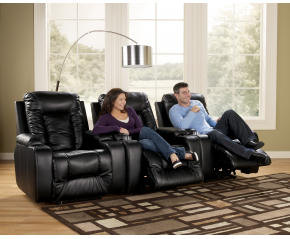 Matinee DuraBlend® - Eclipse Contemporary 3 Piece Theater Seating Group with Power Recline by Signature Design by Ashley