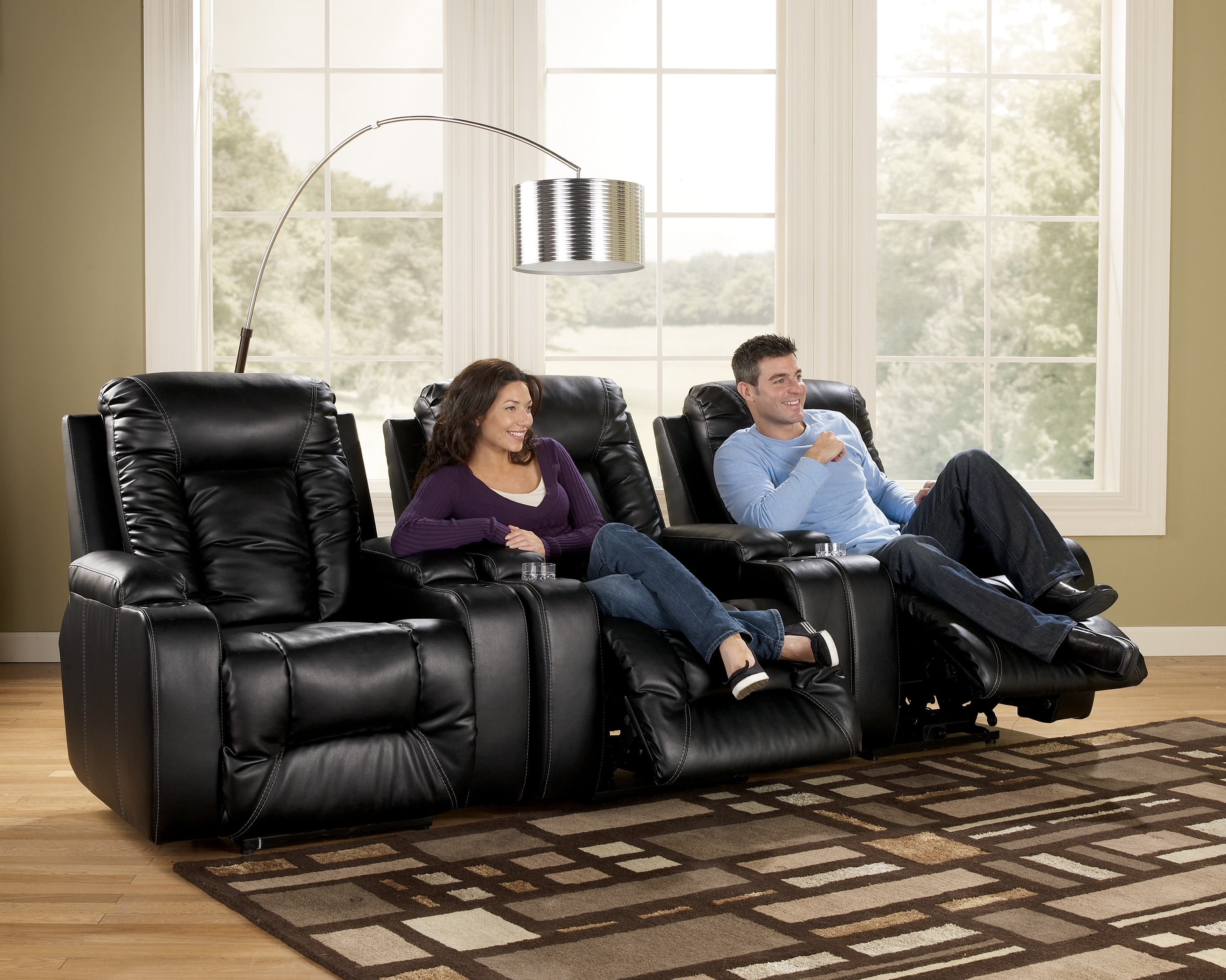 matinee durablend eclipse contemporary 3 piece theater seating