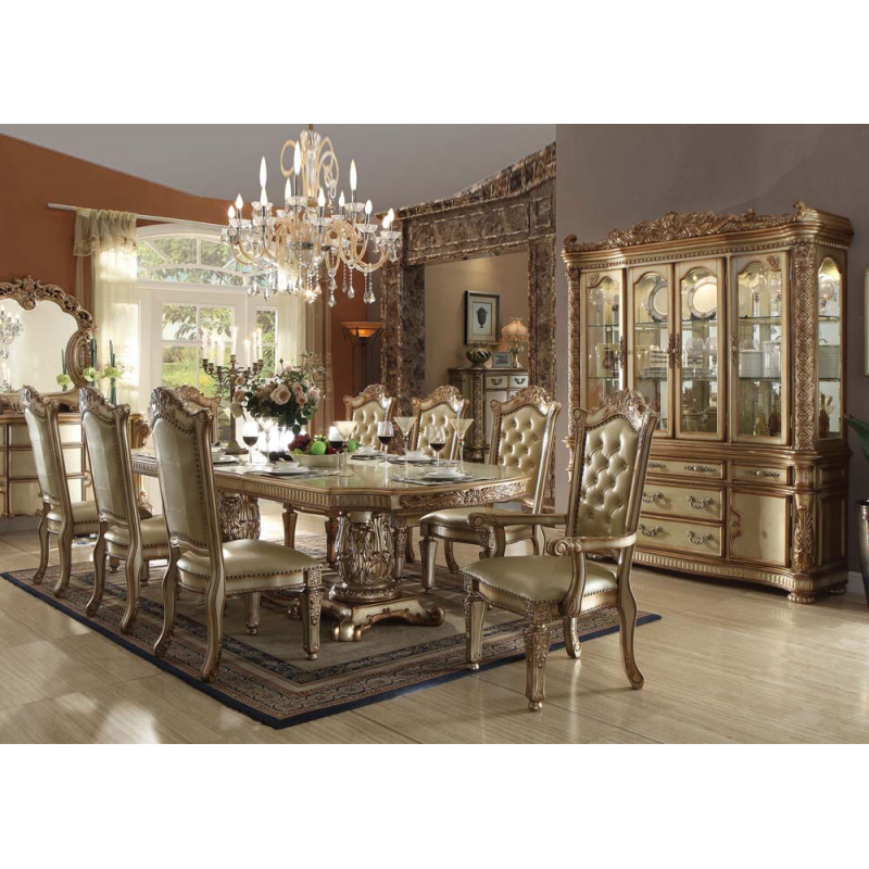 Vendome Gold 7pc Formal Dining Set