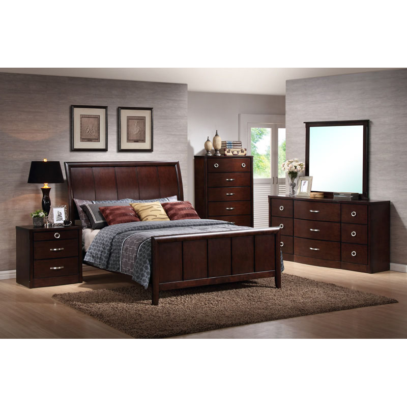 bordeaux 4pc bedroom set