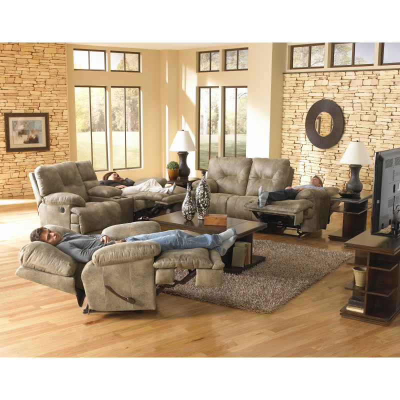 Voyager reclining sofa loveseat by catnapper for Sectional sofa with bed and recliner