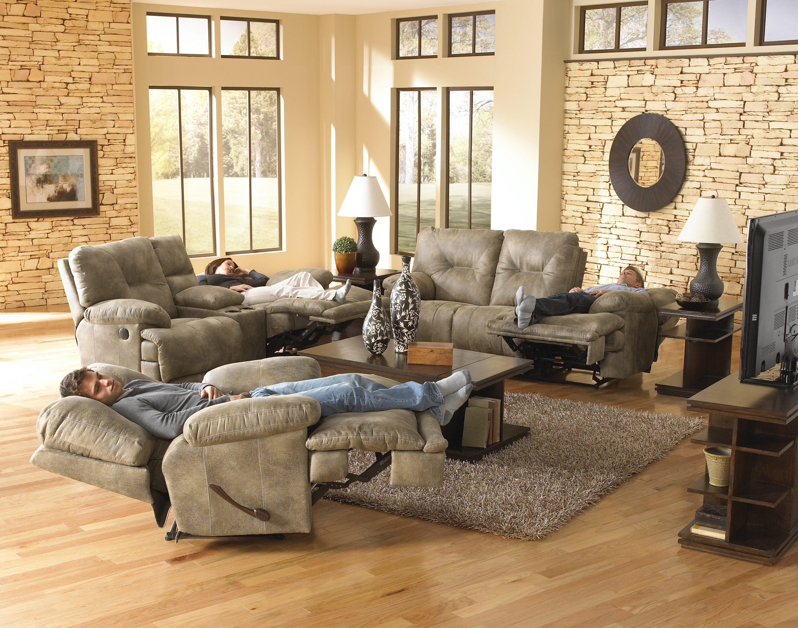 Voyager Reclining Sofa & Loveseat By Catnapper