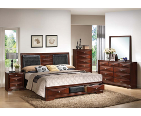 Windsor Merlot 5PC Bedroom Set