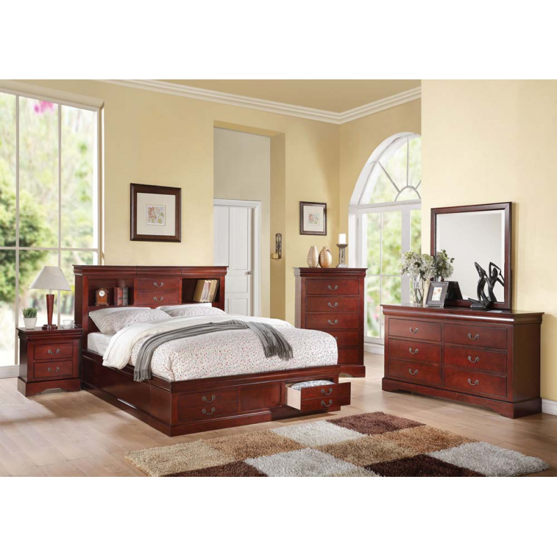 Louis Philippe III 4PC Bedroom Set