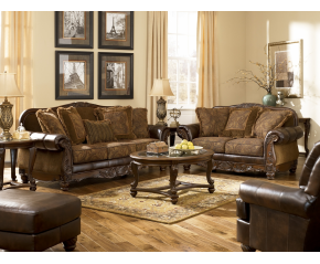 Ashley DuraBlend® Antique Sofa & Loveseat