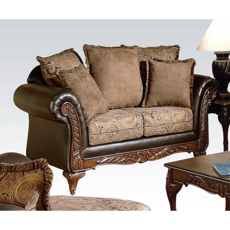 Serta ronalynn sofa loveseat in san marino chocolate Chocolate loveseat