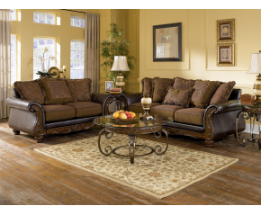 Ashley Wilmington Walnut Sofa Loveseat