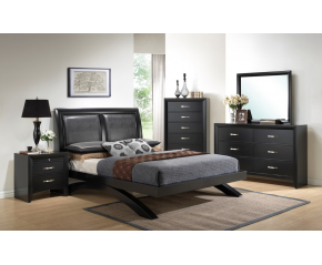 Galinda 4PC Queen Bedroom Set by Crown Mark