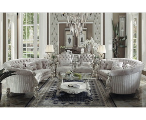 Versailles Ivory/Bone White Oval Sofa