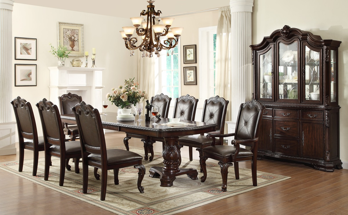 Formal Dining Sets kiera 9pc formal dining table