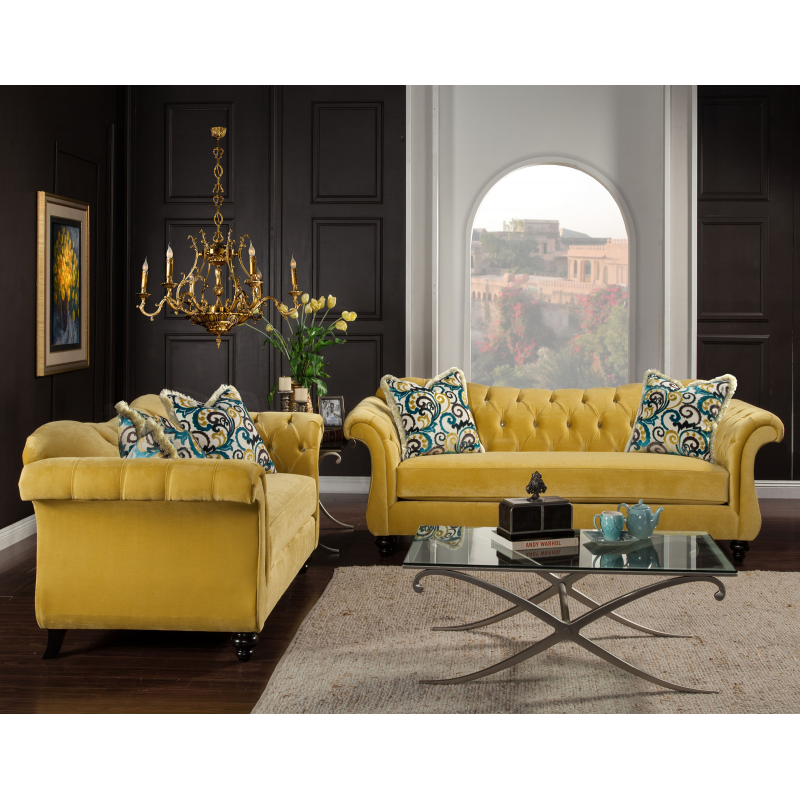 Furniture Of America Living Room Collections: Antoinette Sofa & Loveseat