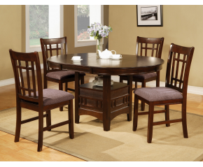 Cherry Pub 6 PC Dining Table With Pedestal Base