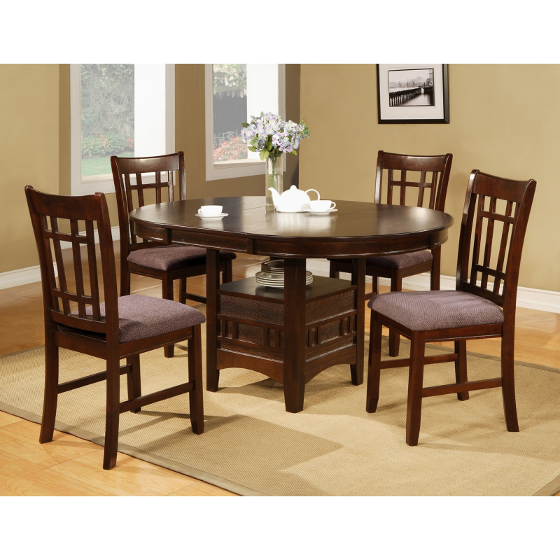 Counter Height Pedestal Base : ... Room > Counter Height > Cherry Pub 6PC Dining Set With Pedestal Base
